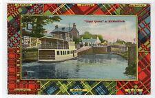 """STEAMER """"GIPSY QUEEN"""" AT KIRKINTILLOCH: Dunbartonshire postcard (C21026)"""