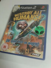 * Sony Playstation 2 Game * DESTROY ALL HUMANS! * PS2