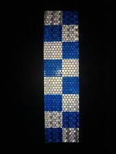 200mm×50mm High Intensity Blue/White Chequer Reflective Tape Self-Adhesive