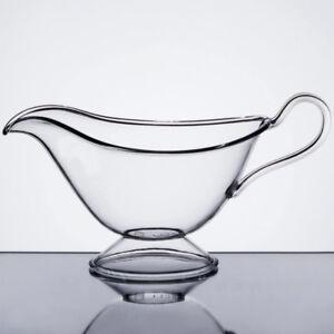 Fineline Platter Pleasers 3700-CL 16.9 oz. Clear Plastic Gravy / Sauce Boat