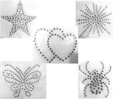 Hotfix Strass Aufbügler Bügelbild kleine Spinne Spider Strass Crystal 161024