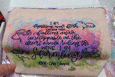 """ROAR Quote Canvas Zipper pouch. """"I am lightening made flesh, colder than..."""""""
