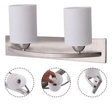 Home Wall 2 Light Glass Sconce Pendant Lamp Fixture Vanity Bathroom Lighting US
