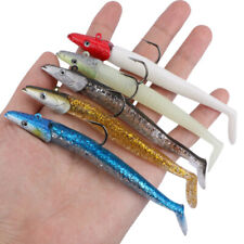 5pcs/lot Soft Fishing Lures Lead Jig Head Soft Bait Sinking Freshwater Saltwater