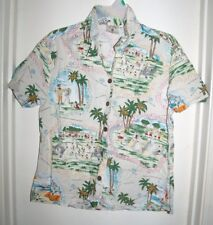 Vintage LJ Yeah James Littlejohn Boys & Girls Club Hawaiian Top Ocean Beach M