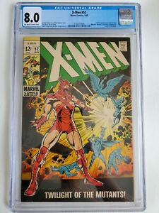 1969 MARVEL X-MEN #52 1ST FULL APPEARANCE ERIK THE RED CGC 8.0