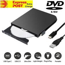 USB & USB-C External DVD CD Disc Drive Burner Writer Player Win 10 8 7 Mac OS