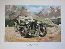 MG L2 Magna 2-Seater. Vintage Car Print. MG Print.