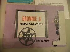 Instructions cine projector KODAK BROWNIE 8 Model A15G - CD/Email