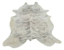 Grey Cowhide Rug Large Light Brindle Brazilian 87 X 74 Inches 3002