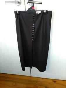 Mosaic brown unlined skirt New Zealand designer Size 10