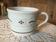 "Pre Owned Longaberger Classic Red Mug. 3"" H x 3.25"" D. Beautiful!"