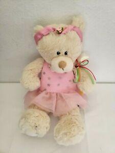 First Main Twinkletoes Teddy Bear Plush Stuffed Animal Pink Dress Stars Wand