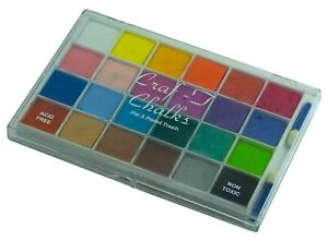 Craf-T Decorating Chalks 24 Colors Set For a Pastel Touch Acid Free