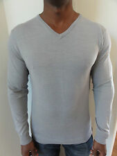 Quikisilver Mens Limited Collection Grey Wool & Linen Jumper Sweater  RRP$129.99