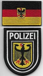 GSG-9  Polizei BGS  KLETT  2-teilig Abzeichen gest. Patch BUNDESPOLIZEI SIK SEK