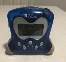 Translucent Blue Oregon Scientific Projection Clock Indoor Thermometer a3m