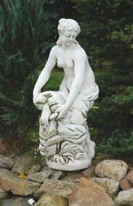 Akt Wäscherin (S277) Frau Gartenfiguren Skulptur Statuen Deko Steinguss 122 cm