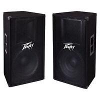 "Peavey PV115 2-Way 15"" 800W Passive PA DJ Sound PV115 Speaker System (2 Pack)"