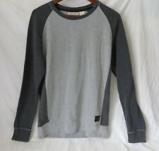 DKNY Jeans Mens Pull Over Shirt Sweatshirt Raglan Long Sleeve Gray Block M #6518