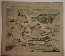 BADEN-WÜRTTEMBERG GERMANY 1638 MERIAN UNUSUAL ANTIQUE COPPER ENGRAVED MAP