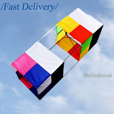 CRAZY SALE 3D Rainbow Magic Box Kite with Handle Line Tools for Kids Toys Fun