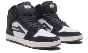 Lakai Skateboard Shoes Telford Grey/White Suede Mens