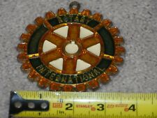 Sun Catcher Rotary International - Vtg Stained Glass