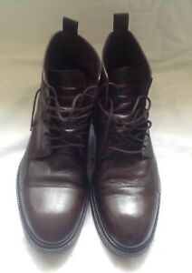Paul Smith Men's Dip-Dyed Brown Calf Leather 'Jarman' Boots. Size 8UK