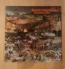 * BLACK SABBATH * signed vinyl album * OZZY, TONY, GEEZER & BILL * GREATEST HITS