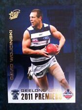 2011 AFL SELECT GEELONG CATS DAVID WOJCINSKI PC7 PREMIERSHIP PREMIERS CARD
