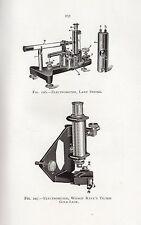1921 PRINT ~ ELECTROMETER LABY STRING WILSON KAYE'S TILTED GOLD LEAF