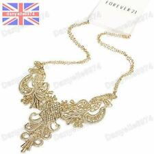 GOLD PLATED FILIGREE metal lace NECKLACE FOREVER 21 vintage style BIB collar