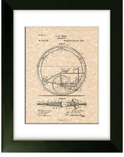 United States Patent Office Print Monocycle 1894