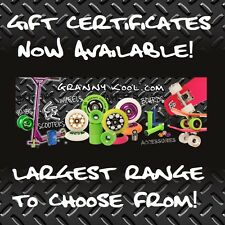 GK GIFT CERTIFICATE Metal Core Scooter Wheels Y Bars Grips Clamps YoYo's + More
