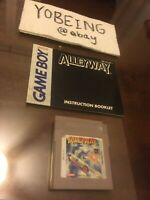 Alleyway Nintendo Game Boy CART + MANUAL - Authentic Tested Works - Alley Way