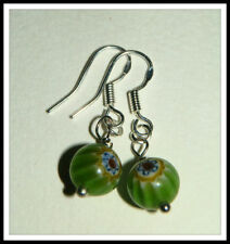 Unbranded Hook Glass Silver Plated Fashion Earrings