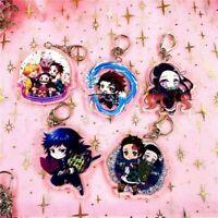 1Pcs Demon Slayer: Kimetsu no Yaiba Acrylic Keychain Keyring Cosplay Anime Charm