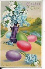 Easter Themed Postcard Colored Eggs Early 1900S