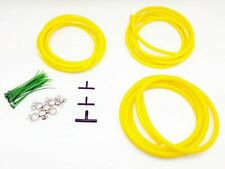 Silicone Vacuum Hose Assorted YELLOW Kit 3/4/8mm Clamp set Fit Mitsubishi
