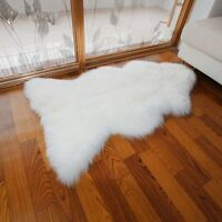 105cm Ultra Fleece Single Sheepskin Rug Eco-Tan Sanitized Australian Lambskin