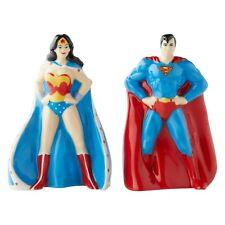 DC Comics Superman & Wonder Woman Salt and Pepper Shakers 6003734