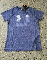 New Under Armour Youth Girls Loose Fit Big Logo T-Shirt Medium