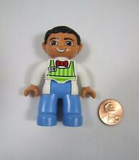 LEGO DUPLO DAD FATHER MAN GUY Grocer Worker for Store FIGURE Rare