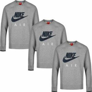 Nike Mens Air AW77 Fleece Crew Neck Top Sweatshirt Cotton Grey Size S M L XL