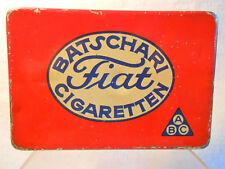 Batschari Fiat Cigaretten alte Blechdose um 1920 Baden-Baden