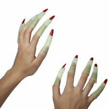 Glow in The Dark Green Witch Plastic Fingers 10pc Halloween Costume Accesory