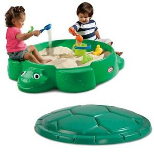 Little Tikes Turtle Sandbox Kids Outdoor Green Seat Backyard Fun Creative Play