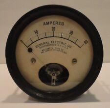 Vintage General Electric Ge Dc Amperes Meter Type De