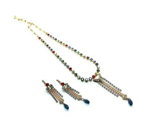 Mariana Jewelry Set Necklace & Earrings Blue,Violet,Sapphire,Siam & More Swar...